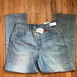 GAP High Rise Wide Straight Leg Jeans